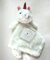 Manhattan Kids Baby Ivory Unicorn Rosette Plush Cuddly Pal Security Blanket