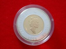 1996 Canada $2 Gold 22 KT Inner Core Coin Proof Polar Bear - No Tax