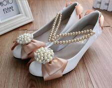 Decolté decolte scarpe donna ballerina bianco beige sposa 3.5, 4.5 8. cm 9335