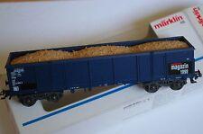 MARKLIN REF.46902 DB AZUL Güterwagen MINERAL VAGON DE ARENA