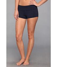Seafolly Goddess Roll Top Boyleg Swimsuit Bikini Bottom Blue Size US 10 (AU 14)