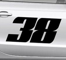 3x Startnummer Wunschnummer Auto Motorrad Motocross Aufkleber ATV M2 Enduro Boot