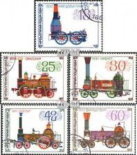 Bulgarije 3278-3282 gestempeld 1984 Oud Stoomlocomotieven