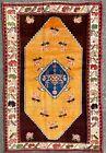 ANTIQUE KARABAKH RUG, GORGEOUS WOOL TRIBAL CAUCASIAN CARPET (6FT X 4FT) CLEAN