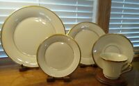Lenox Eternal Dimension Collection 5 Piece Place Setting Gold Trim 10 Available