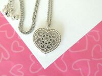 Brighton Illumina heart Silver Reversible Crystal Necklace NEW TAGS $78
