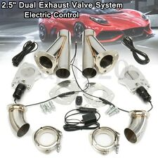 "2.5"" 63mm Dual Exhaust Catback Downpipe Cutout Valve System Electric Control Kit"