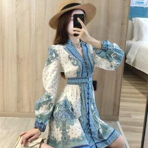 Zimmermann style blue print dress