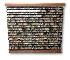 "2"" Camouflage Camo Wooden Mini Blinds Realtree Hardwoods 27 x 64"
