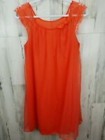 Vintage USA Vanity Fair Small Nylon Lace Peignoir Nightgown Lingerie