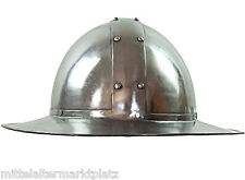Kattle Hat Helm Mittelalter Eisenhut Rüstung Ritter Kreuzzug LARP Gothic MMP104