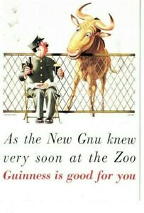 GUINNESS IS GOOD FOR YOU - THE NEW GNU COLOUR  POSTCARD