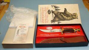 1970s CASE XX USA KODIAK HUNTER INDIA STAG HANDLE KNIFE W/ SHEATH ORIGINAL BOX