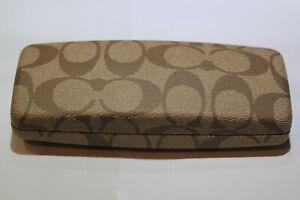 Genuine COACH RECTANGULAR CLAM SHELL sun glasses case LOW PROFILE