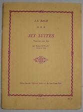 6 suites pour Alto de J.S. Bach, partition