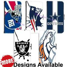 Hot American Football Sports Team PU Leather Wallet Flip for Galaxy Phone