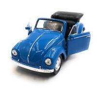 Modellauto VW Käfer Beetle Cabrio Blau Auto 1:34-39 (lizensiert)