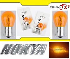 Nokya Light 1156 Amber 21W Nok5218 Two Bulbs Rear Turn Signal Replacement OE Fit