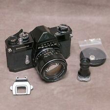 Pentax Spotmatic SP Black with Super-Takumar 50mm f1.4 and accessories