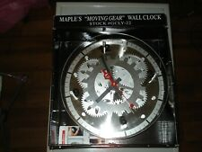 Maple's 12-Inch Moving Gear Wall Clock, Glass Cover GCLY-22