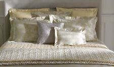 New Yves Delorme Vegetal Euro Sham Case Jacquard Foliage Honey Beige Reversible