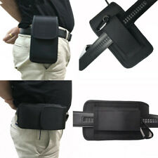 Man's Belt Waist Bag Clip Hook Holster Card Wallet Pouch Black Nylon Case Cover