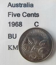 1968 Australia 5c Five Cents UNCIRCULATED FROM MINT SET