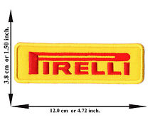 Yellow Pirelli Car Racing Rider Automobile V06 Logo Applique Iron on Patch Sew