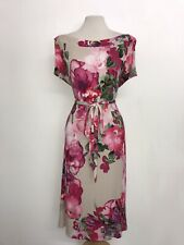 LAURA ASHLEY - Ladies PINK Floral DRESS - Size 18 - WORN ONCE - GORGEOUS