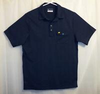 Vintage Jack Nicklaus Golden Bear Golf Polo Shirt Men's Large L Blue Pocket