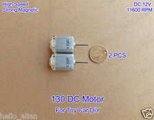 2PCS Mini 130 DC Motor DC12V 11600RPM High Speed Strong Magnetic for Toy Car DIY