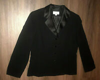 Le Suit Size 14 Black Button Up Womens Blazer Jacket