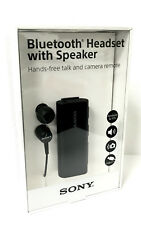 Sony SBH56 Bluetooth NFC One Touch Headset with Speaker Talk Camera Remote Black