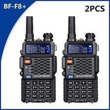 Actualización 2PCS Baofeng UV-F8+ (UV-5R) UHF VHF de Doble banda de dos vías de radio Walkie Talkie