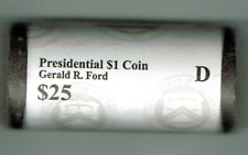 2016-D $1 Brilliant Uncirculated 38TH President Ford Roll of 25 Coins!