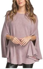 Solid Knit Top Cape