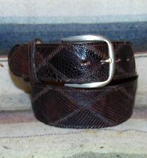 9fff23e472 Vintage Justin Lagarto Genuino Marrón Cinturón Vestido occidental de cuero  Talla 28 Nuevo