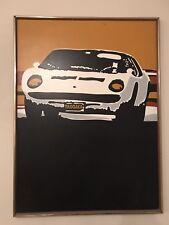 1970's TAOGAEA Eddie Powell Mid Century Racing Car Oil Painting
