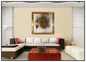 JAMALI Large Original Fresco Tempera Painting Abstract Portrait Signed Artwork