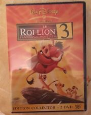 DVD WALT DISNEY*LE ROI LION 3*EDITION COLLECTOR 2DVD N°71 SOUS BLISTER