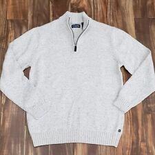 CHAPS by Ralph Lauren 1/4 Zip Mens Cotton Sweater MEDIUM NEW