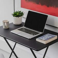 Fold Up Desk Space Saving Simple Folding Office Away Small Flat Top Work Table