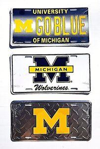 UM Michigan University Wolverines Metal Car Tag Truck Auto License Plate NCAA