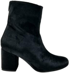 Free People Cecile Black Velvet Ankle Boot Size EU 41B (M) / US 11B(M)