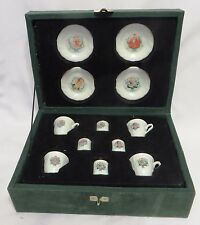 Chilton Toys 12-Piece 1992-95 Holiday Barbie Porcelain Tea Set in Wood Case