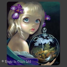*MICROCOSM: TRICERATOPS* Strangeling Art Mouse Mat By Jasmine Becket-Griffith