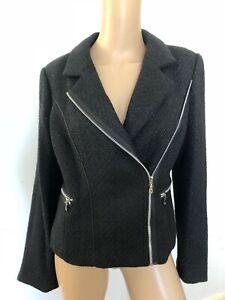 MARCO POLO black zip jacket 12 NWT RRP $199