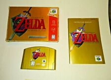 Legend of Zelda OCARINA OF TIME Collector's Ed (Nintendo 64) COMPLETE! Gold Cart