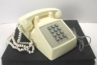 Western Electric Bell System Push Button Desk Telephone Receives No Dial AS IS