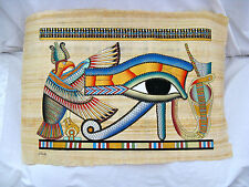 """Egyptian Papyrus Paper Painting Eye Of Horus 25""""X17"""""""